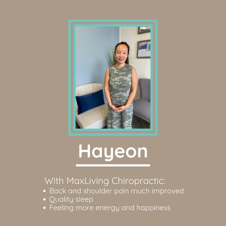 Chiropractic Clemmons NC Patient Testimonial Hayeon