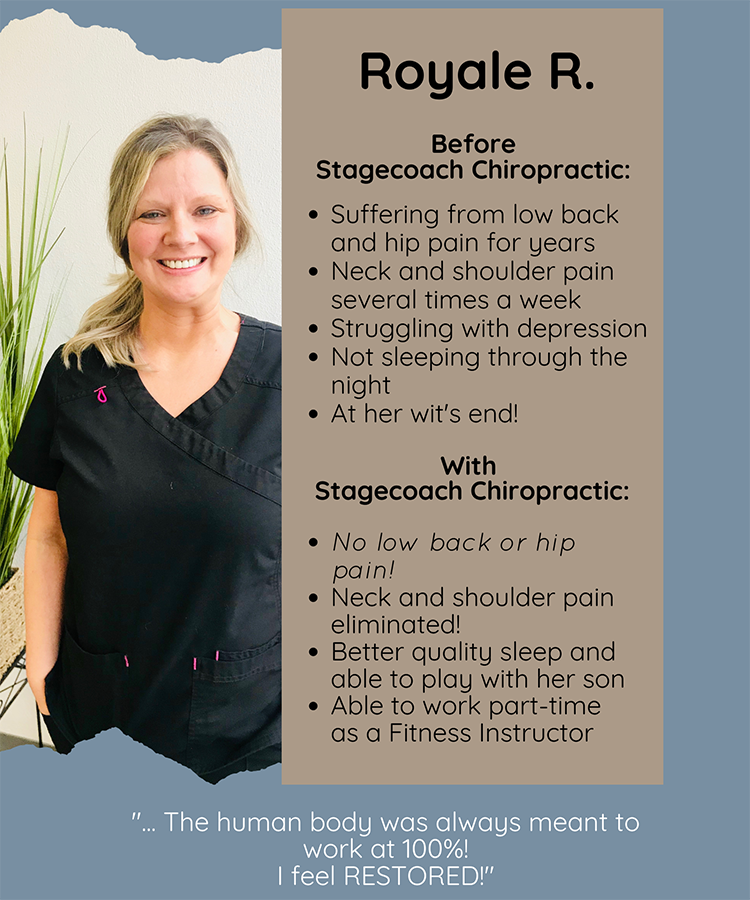 Chiropractic Clemmons NC Patient Testimonial Royale