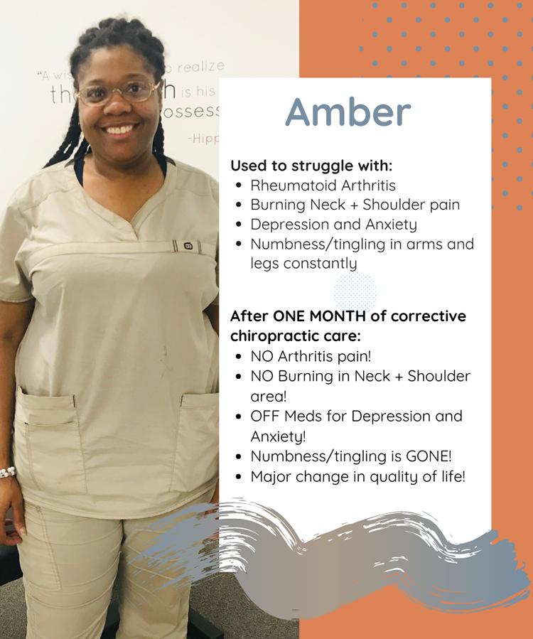 Chiropractic Clemmons NC Testimonial Amber